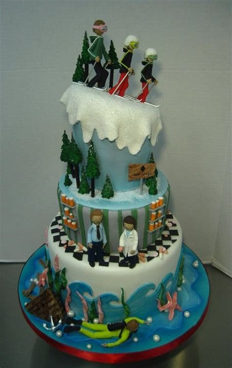 1000  images about Skiing Cake on Pinterest