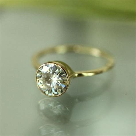 7mm Forever Brilliant Moissanite 14K Gold Engagement Ring