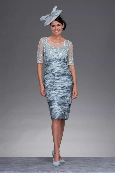 Short ruched dress with matching jacket: ISA935 Size 16