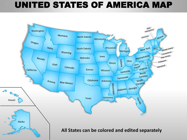 Map Of United States For Powerpoint | dafytk