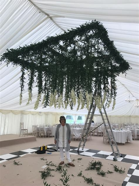 Hanging Flower Ceiling over Marquee Dancefloor ? Passion