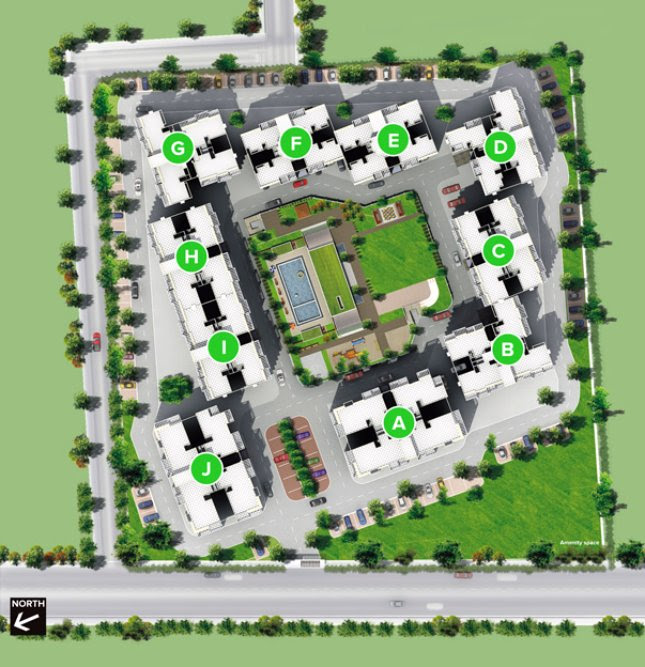 Darode Jog's Westside-County Pimple Gurav Pune 411 027: 1.5 BHK, 2 BHK, 3 BHK Flats - Layout Plan