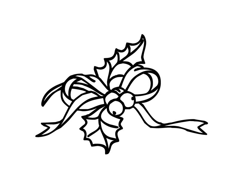 960 Christmas Coloring Pages-holly Leaves Images & Pictures In HD