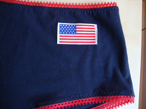 Patriotic UW; patch courtesy Antoinette