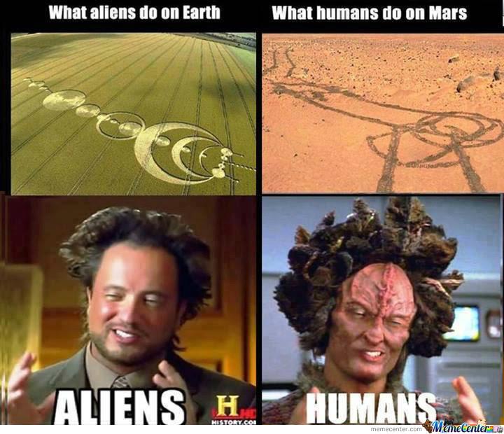 Los aliens en la tierra vs el Ser humano en Marte