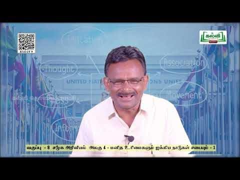 8th Social Science மனித உரிமைகளும் ஐக்கிய நாடுகள் சபையும் - 1  பருவம் 2  Kalvi TV