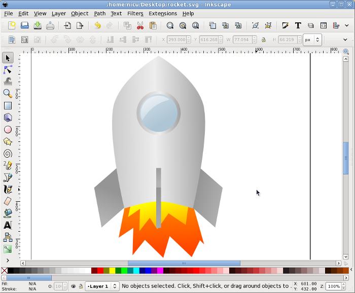 inkscape rocket howto