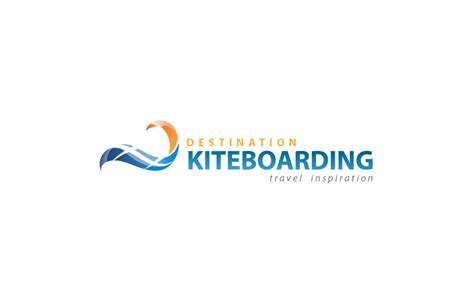 destination kite boarding logo design bali graphic