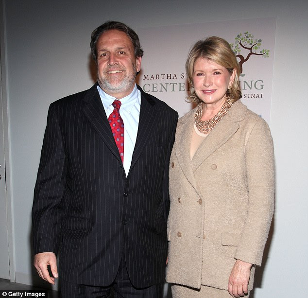 Wounded: Dr Dennis Charney, who was seen with Martha Stewart at the opening of the Center for Living at Mount Sinai hospital in New York, was badly wounded in the shooting at the deli