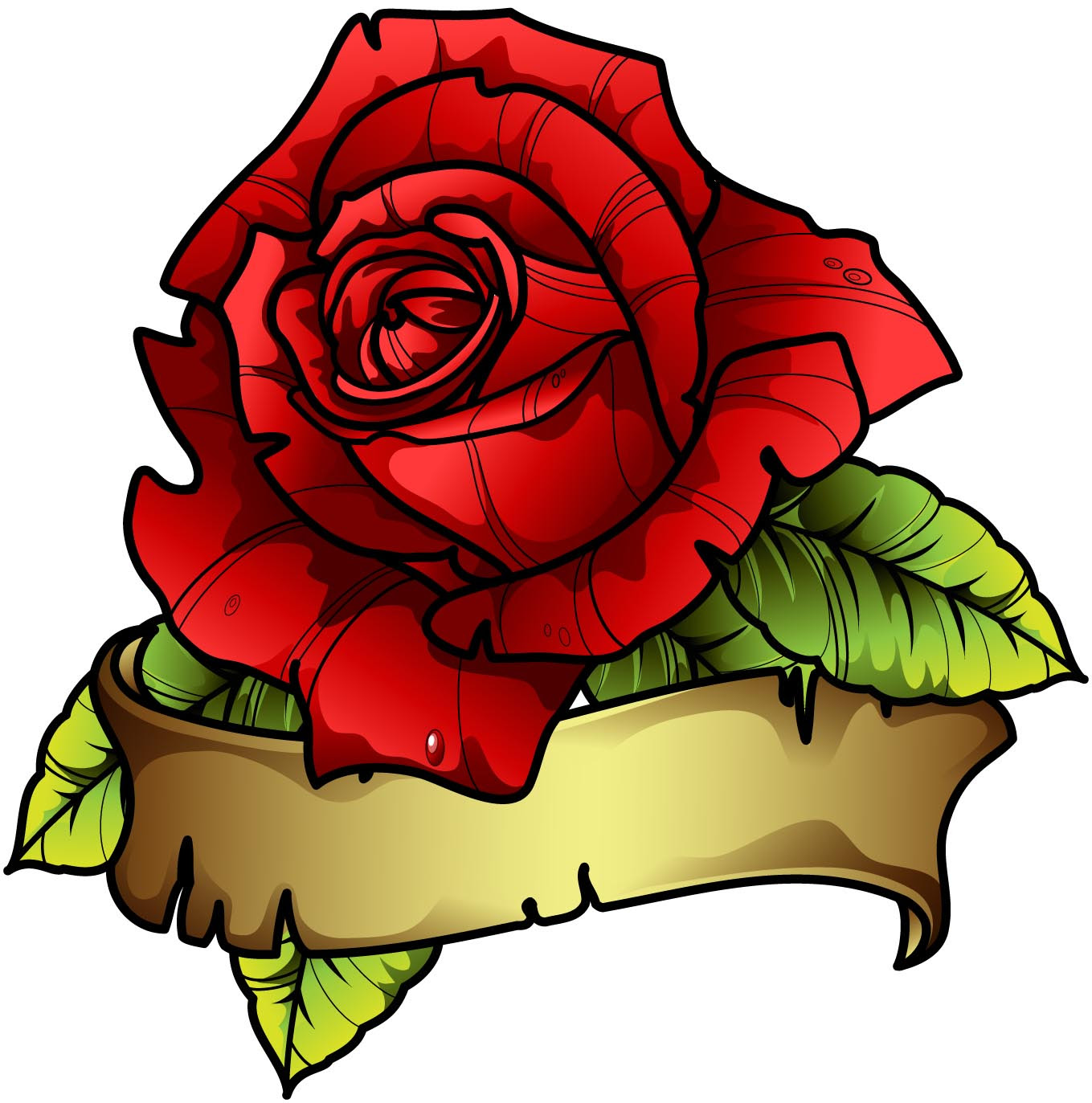 Sbink Red Rose Tattoo Picture