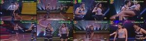 Cuca Roseta sensual no programa Dança com as estrelas