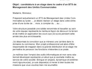 Bts Esf Lettre De Motivation