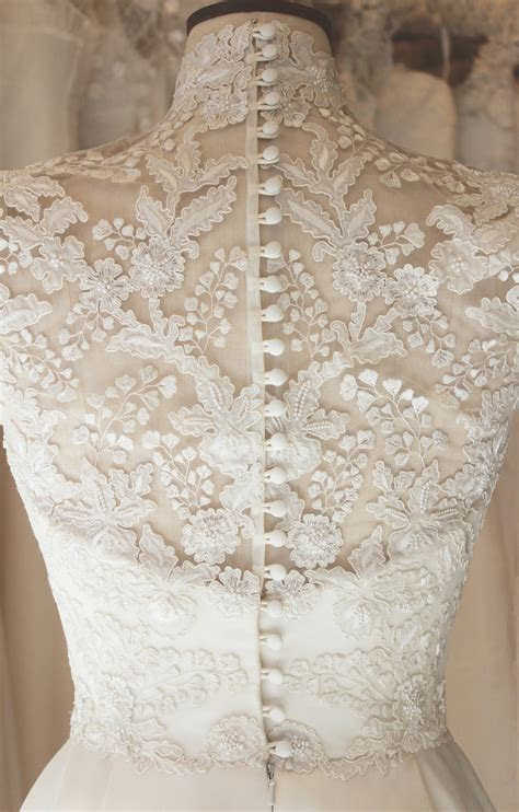 A HIGH NECK EMBROIDERED WEDDING DRESS   Phillipa Lepley