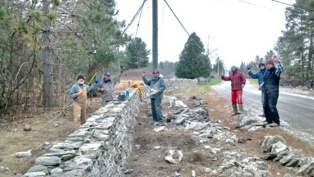 157 feet of original wall repaired