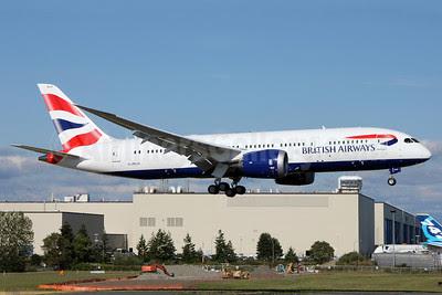 British Airways Boeing 787-8 Dreamliner G-ZBJA (msn 38609) PAE (Nick Dean). Image: 912549.