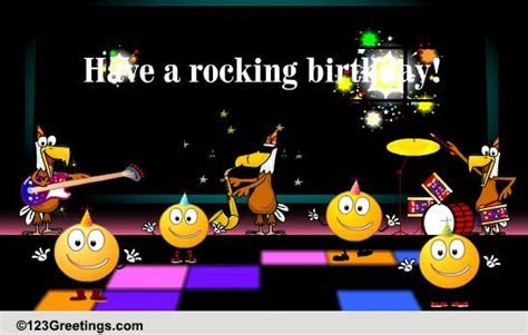 Have A Rocking Birthday! Free Songs eCards, Greeting Cards