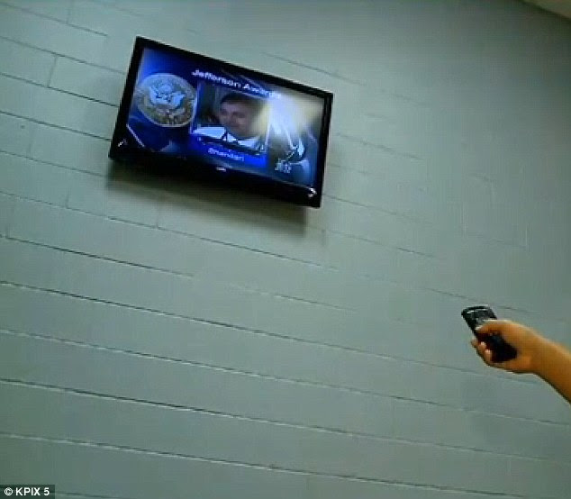Oh you fancy huh?: Inmates paying for the upgrades get widescreen HDTVs