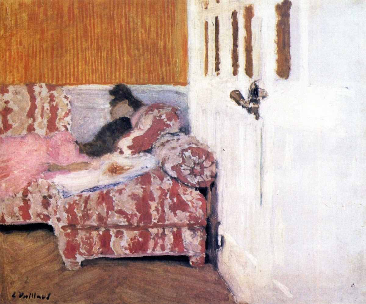 On the Sofa (also known as In the White Room) Edouard Vuillard - circa 1892-1893