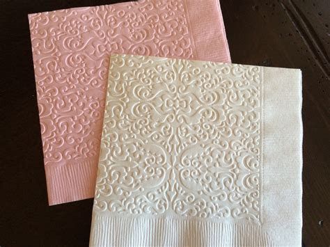 Decorations: Fancy Printed Wedding Napkins For Wedding