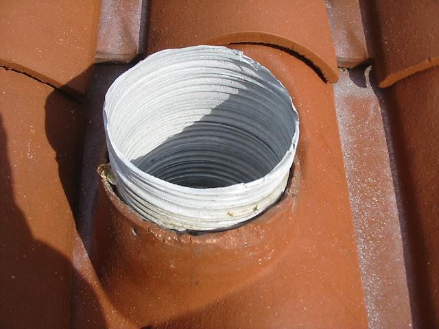 Une souche de cheminée
