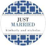 Royal Suite Deep Blue   Wedding Labels   Evermine