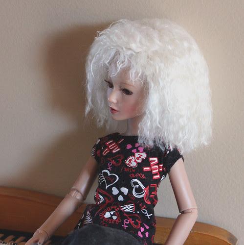 handmade wig, side