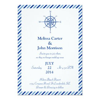 Nautical Compass Wedding Invitation
