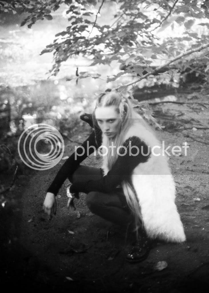 black & white,fur,mystical