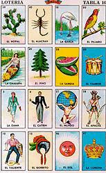 Bingo card mexican