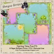 Spring Time Fun Paper Borders Trims FS CU