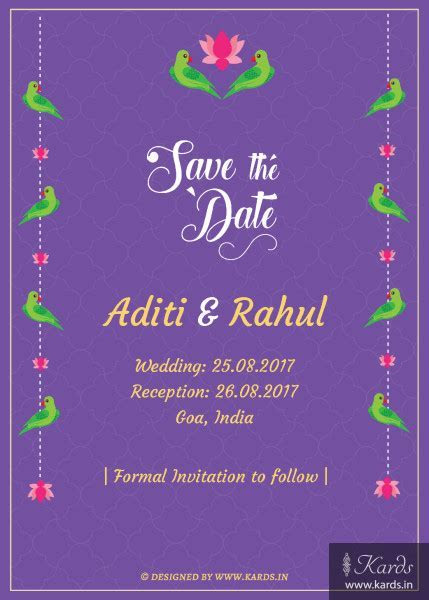 Kards: 100  Unique Indian Invitations E Cards   Buy Online