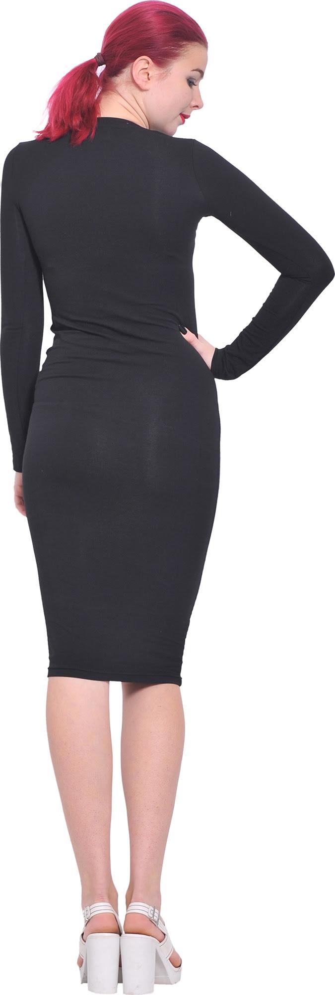Bodycon length tea size dresses long plus