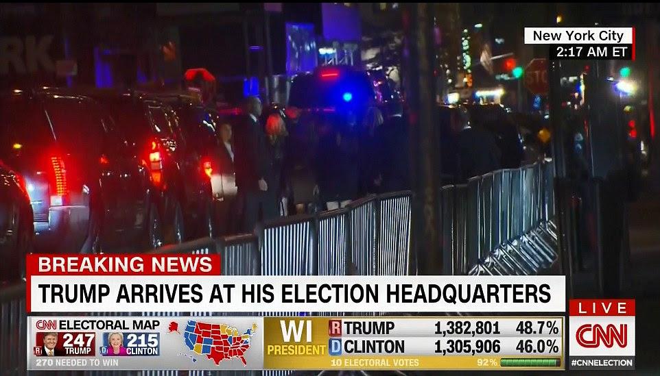 Trump afirmou que a posição da Casa Branca depois de tomar Pensilvânia para garantir 274 votos eleitorais universitários