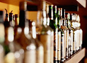 Picture of alcohol bottles