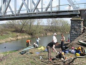 отплытие от моста у Дудино