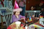 Alex carefully considering her birthday wish