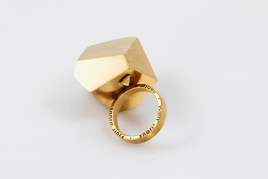 gold geometric ring slow fashion unique trends fall 2015