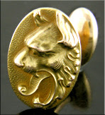 WAB fierce lion cufflinks. (J8762)