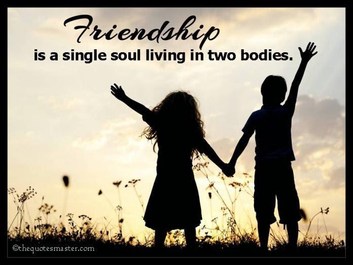 Friendship is a single soul...