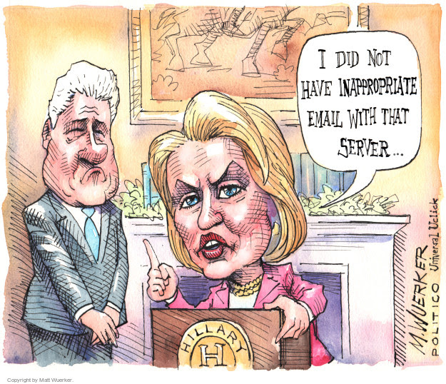 Image result for Hillary's baggage train cartoon