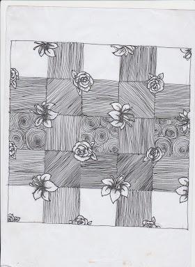 Sketsa Batik Tepi