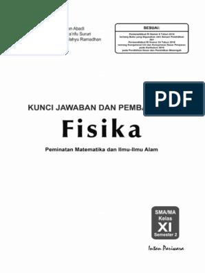 Kunci Jawaban Buku Pr Fisika Kelas Xi Semester 1 Guru Galeri