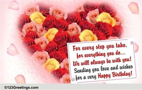 Love And Wishes For Your B'day  Free For Son & Daughter