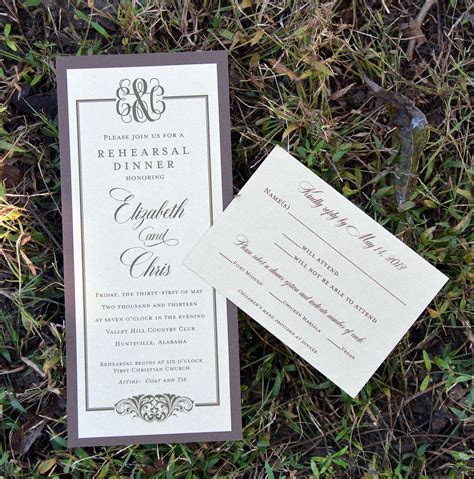 Rehearsal Dinner Invitation & Response Card from Wiregrass