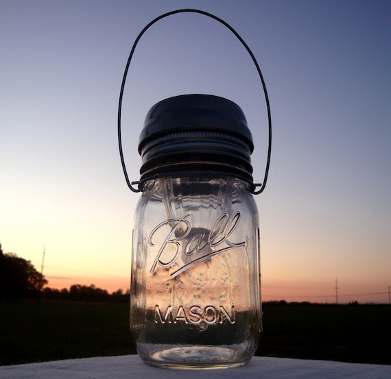 Mason Jar Solar Light Lantern LIDS - Set of 4 - High Quality