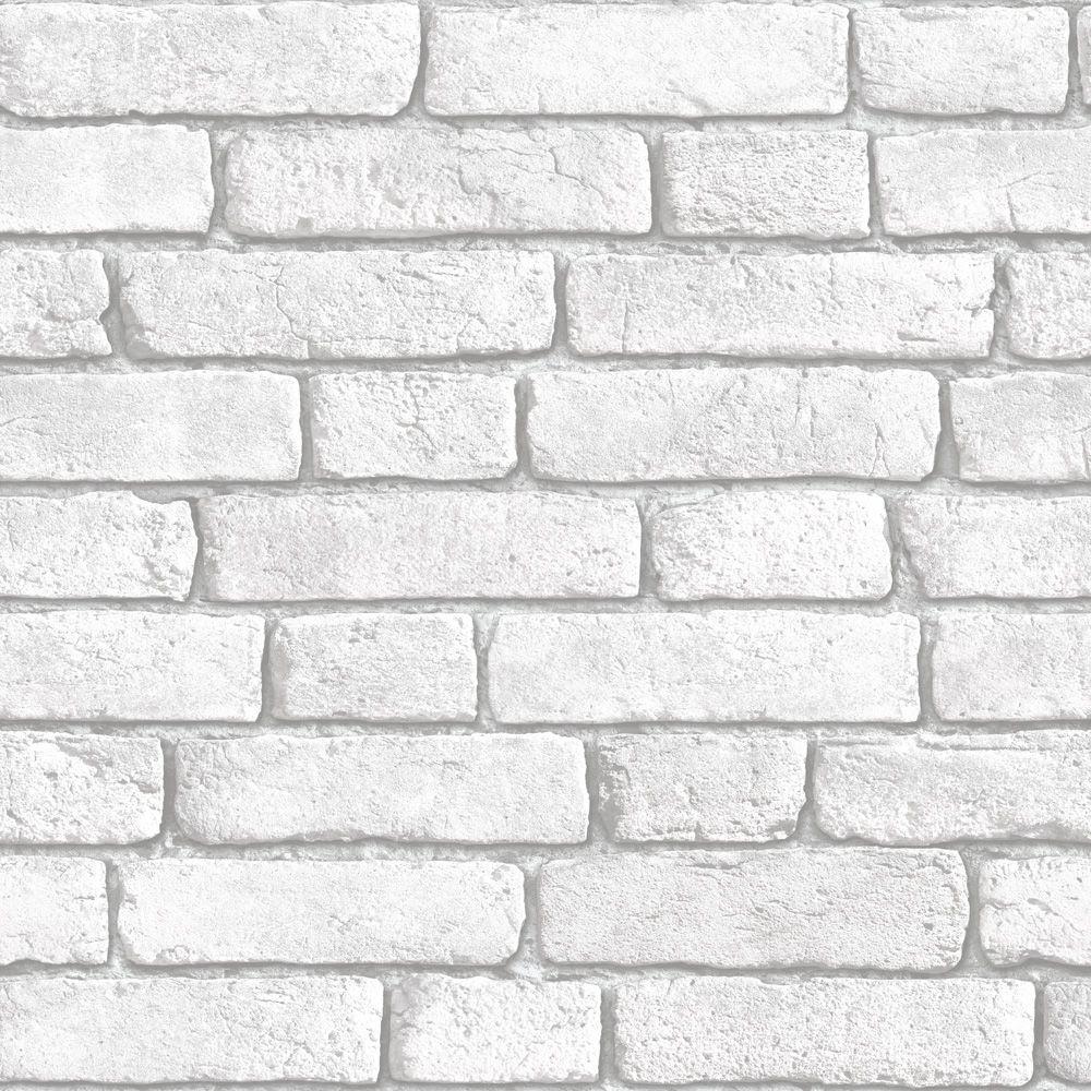 Muriva White Brick Wall Wallpaper Clearance DIY At BQ