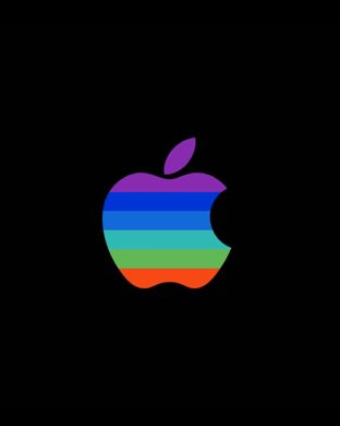 Apple logo colorful black cool  wallpaper.sc AppleWatch