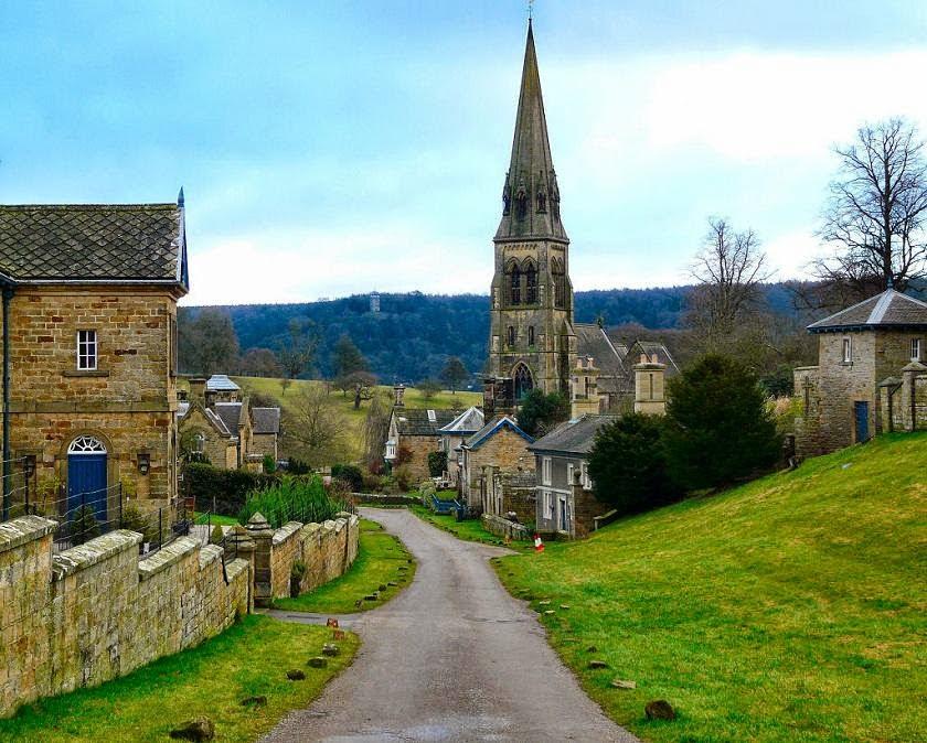 Edensor Village, Derbyshire, England
