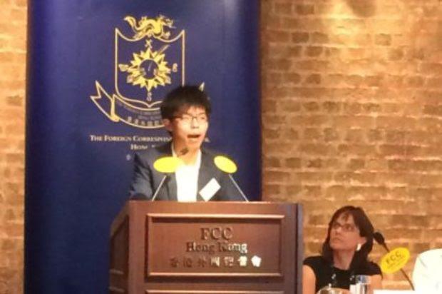 Joshua Wong distinguishes himself from radical localists