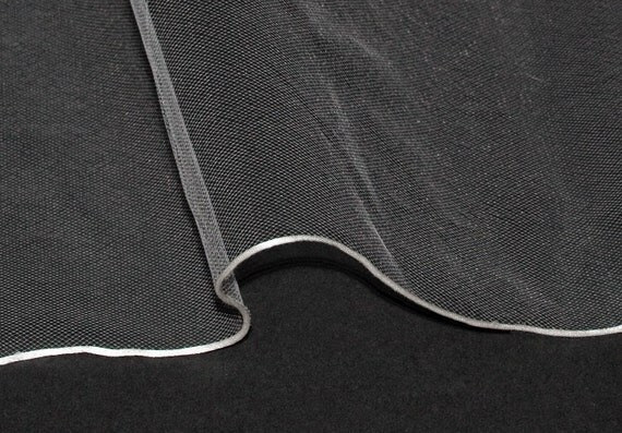 Wedding Veil  - Handmade Fingertip Pencil Edge - made to order